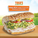 Togo's Turkey & Avocado Sandwiches