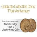 Win a Saddle Ridge 1864 S Liberty Head Coin